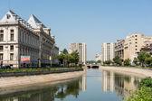 Palace Of Justice And Dambovita River — Stock Photo