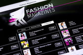 Fashion Magazines On iPad — Stock Photo