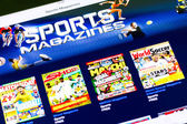 Sports Magazines On iPad — Stock Photo