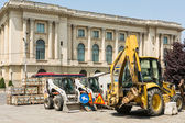 Construction Vehicles Restyle Old Street — Stock Photo