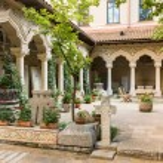 Stavropoleos Monastery Courtyard — Stock Photo #48753333