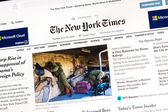The New York Times Newspaper — Stock Photo