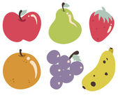 Tropical Fruits Collection — Stock Vector