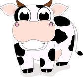 Little Cow cute — Stock Vector