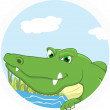 Illustration Of Crocodile mascot — Stock Vector
