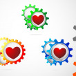 Love gear icon — Stock Vector