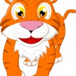 Cute tiger standing — Stock Vector