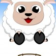 Happy Sheep Jump — Stock Vector #35166871
