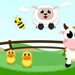 Vector de stock : Farm animal set