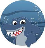 Mascotte di squalo — Vettoriale Stock