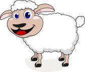 Sheep Cartoon — Stock Vector