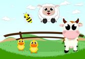 Farm animal set — Stock Vector