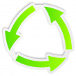 Recycle green icon  — Stock Vector