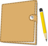 Note Book With Pencil — Stock vektor