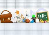 Retour à l'école icônes ensemble — Vecteur