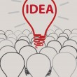 Idea light bulb concept creative design  — Grafika wektorowa