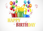 Birthday Celebration — Stock Vector