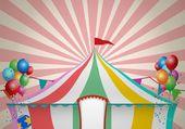 Vintage Circus Tent Celebration — ストックベクタ