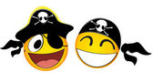 Emoticons Pirate — Stock Vector