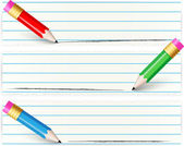 Banners with colorful pencil — Stockvector