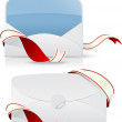 Realistic envelope with red ribbon — Stock Vector #35231225