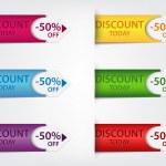 kleurrijke prijskaartjes — Stockvector