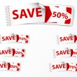 Set of Discount price labels  — Stock Vector