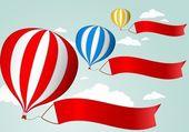 Hot Air Balloon Celebration background — Stock Vector
