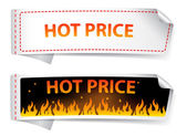 Hot price sticker label — Stock Vector