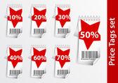 Set of Discount price labels — Stock Vector