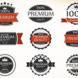 Stock Vector: Premium Quality and Guarantee Labels with retro vintage
