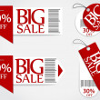 Sale card red promotion percentage retail — Stock Vector #35254313