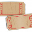 Vector vintage blank paper tickets  — Stock Vector