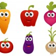 Funny cartoon vegetable — Stock Vector