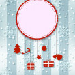 Christmas card background with ribbon — Stockvectorbeeld