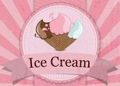 Ice cream Vintage style sign — ストックベクタ