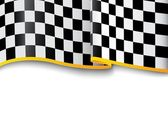 Race background. Checkered black and white — Stock Vector