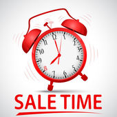Sale promotion with alarm clock — Vector de stock