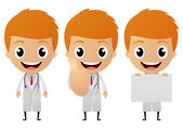 Young doctor cartoon — Stock Vector