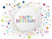 Birthday celebration with colorful confetti — Stock Vector