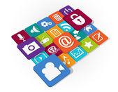 Application Web Icons design — Stock Vector