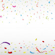 Celebration background with colorful confetti — Stock Vector #44237817