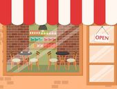 Coffee shop background — Stock Vector