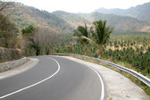 Asian road, Lombok, Indonesia — Stock Photo