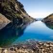 a beautiful mountain lake at 1.800 m above sea level — Stock Photo