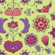 Heart Flower seamless pattern — Stockvektor