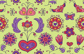 Heart Flower seamless pattern — Stock Vector