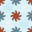 Seamless pattern of paisley — Stock Photo
