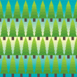 Vector seamless Fir tree pattern — Stock Photo