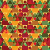 Triangles Vintage Seamless Pattern — Stok Vektör